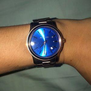 MK blue faced watch